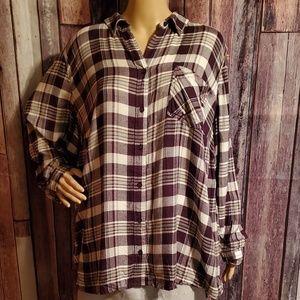 Style & Co Plaid Long Sleeve Shirt  Sz. 3x